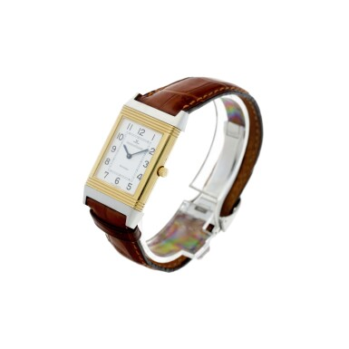 View 2. Thumbnail of Lot 244. REFERENCE 250.5.86 REVERSO CLASSIQUE A YELLOW GOLD AND STAINLESS STEEL REVERSIBLE WRISTWATCH, CIRCA 1995.