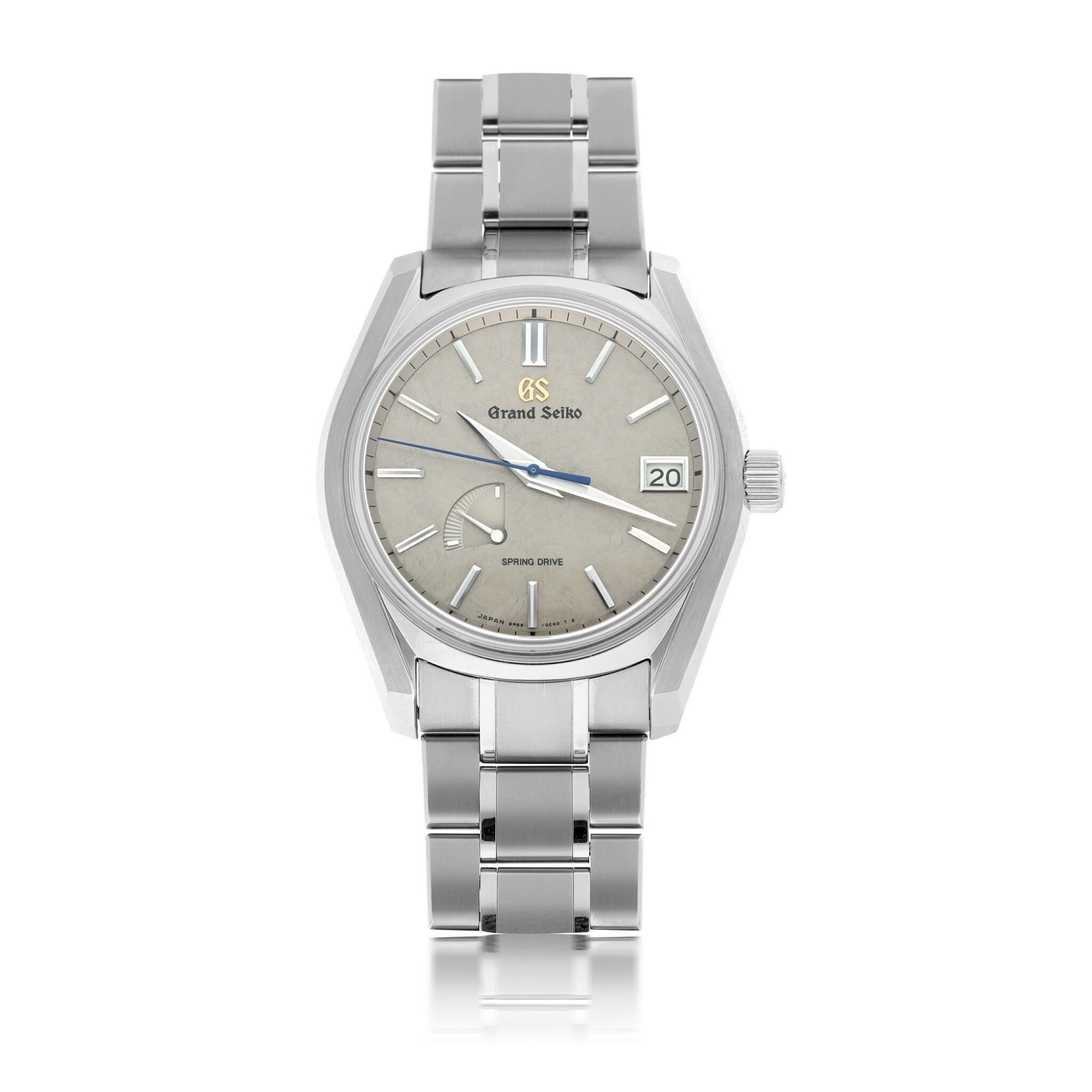 View full screen - View 1 of Lot 75. GRAND SEIKO   REF 9R65-0DG0 SPRING DRIVE, A TITANIUM AUTOMATIC CENTER SECONDS WRISTWATCH WITH DATE AND POWER RESERVE INDICATION CIRCA 2017.