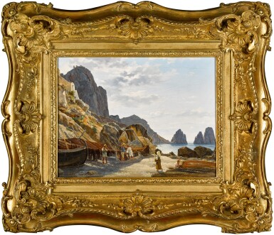 View 2. Thumbnail of Lot 2. Fishermen on Capri with the Faraglioni in the Background.