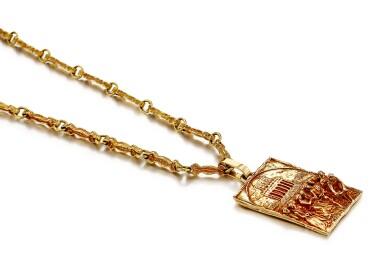 View 2. Thumbnail of Lot 9021. 'Sposalizio della Vergine' Gold Pendent Necklace | 'Sposalizio della Vergine' 黃金項鏈.