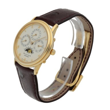 BLANCPAIN | YELLOW GOLD PERPETUAL CALENDAR WRISTWATCH WITH MOON PHASES CIRCA 1995