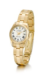 ROLEX  |  DATEJUST, REFERENCE 6917,  A YELLOW GOLD WRISTWATCH WITH DATE AND BRACELET, CIRCA 1978