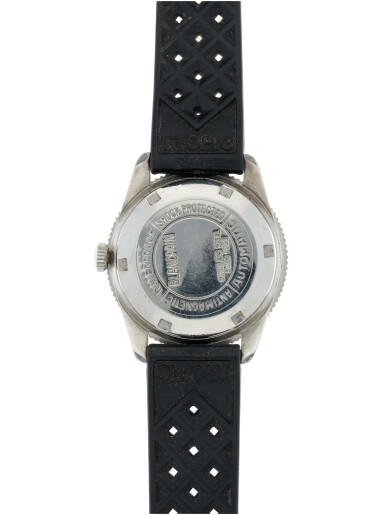 View 4. Thumbnail of Lot 82.  BLANCPAIN | AQUA LUNG  A STAINLESS STEEL AUTOMATIC WRISTWATCH WITH DATE, CIRCA 1960.
