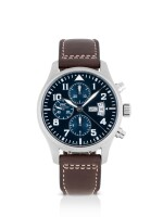 IWC | PILOT'S WATCH LE PETIT PRINCE, REF 3777 STAINLESS STEEL CHRONOGRAPH WRISTWATCH WITH DAY AND DATE CIRCA 2015