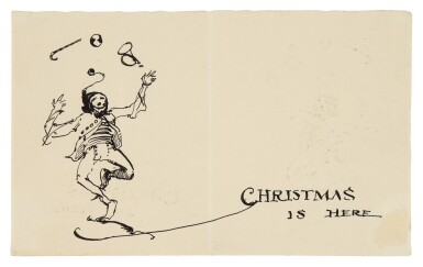 View 1. Thumbnail of Lot 114. Christmas is Here: A Christmas Card.