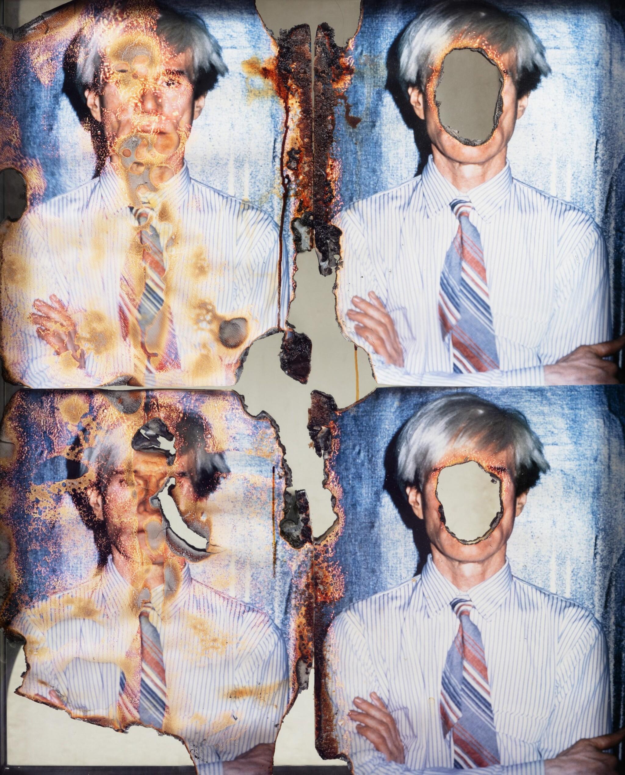 View 1 of Lot 144. Self portrait of You & Me (Warhol 4 part w/4 parts).