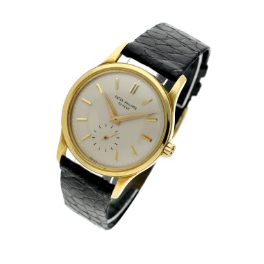 View 2. Thumbnail of Lot 233. Reference 3439  A yellow gold automatic wristwatch, Made in 1961.