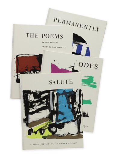 View 1. Thumbnail of Lot 115. ABSTRACT EXPRESSIONISM | A set of 4 volumes of poetry by New York School poets, each illustrated by a second generation Abstract Expressionist.New York: Tiber Press, 1960.