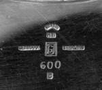 GEORG JENSEN  |  AN EARLY DANISH SILVER PLATTER, MAZARINE AND COVER, PYRAMID PATTERN NO. 600 B, DESIGNED BY HARALD NIELSEN, GEORG JENSEN, COPENHAGEN, 1933-1944