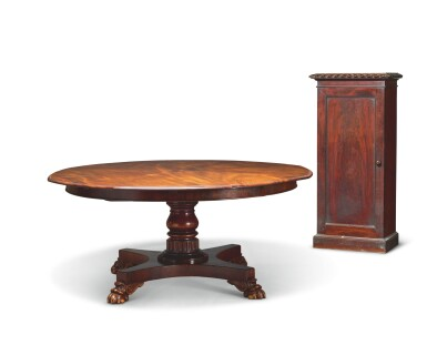View 3. Thumbnail of Lot 24. AN EARLY VICTORIAN MAHOGANY EXPANDING DINING TABLE BY JOHNSTONE & JEANES, MID-19TH CENTURY.