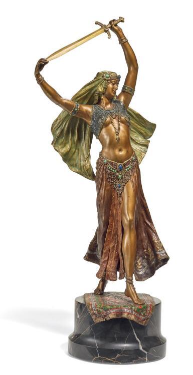 AUSTRIAN, VIENNA, 19TH CENTURY   ORIENTAL DANCER