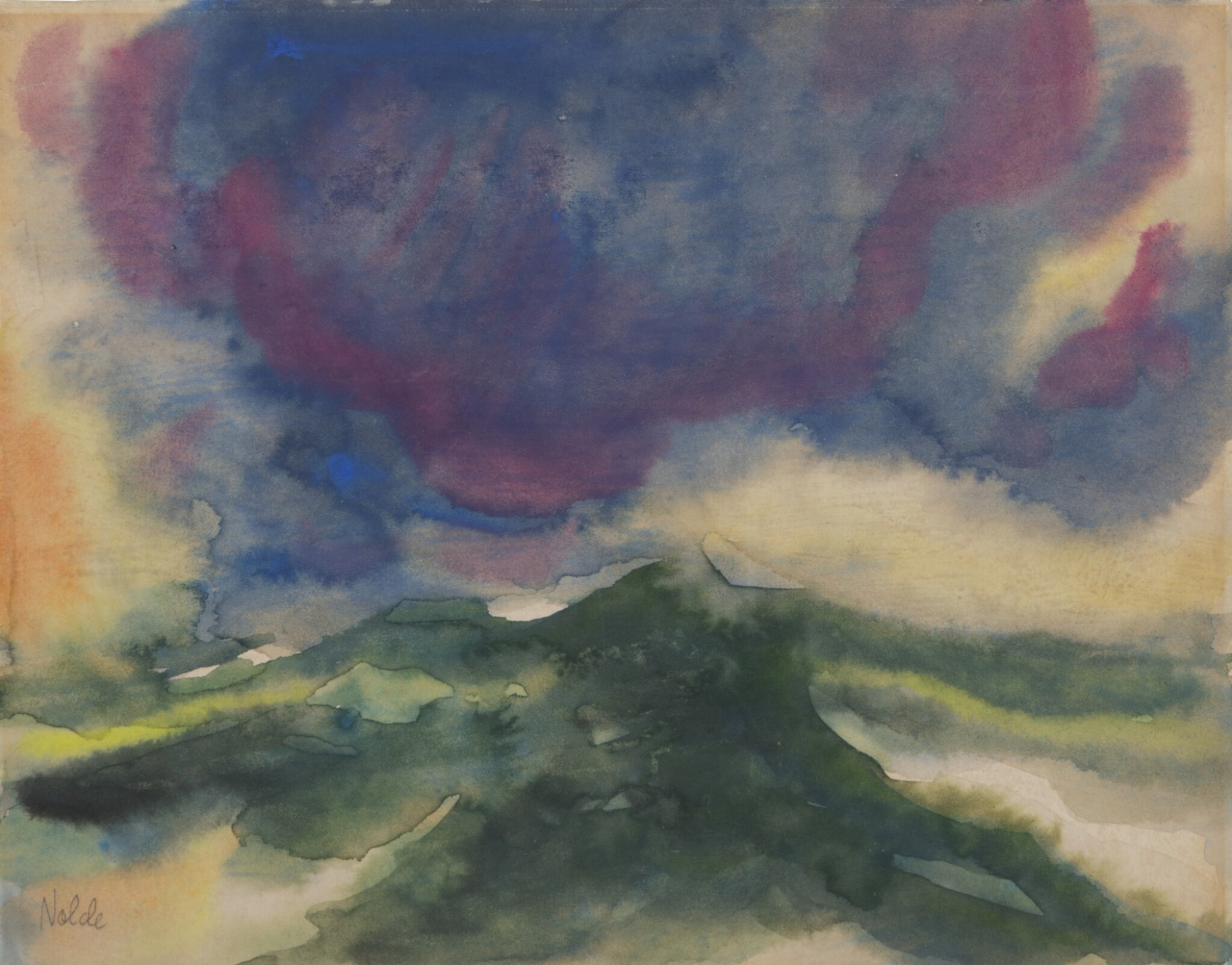 View full screen - View 1 of Lot 21. Landschaft unter einer grossen, blauen Wolke (Landscape under a Big Blue Cloud) .