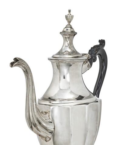 View 2. Thumbnail of Lot 408. An American Silver Coffee Pot, Joseph Richardson Jr., Philadelphia, circa 1800.