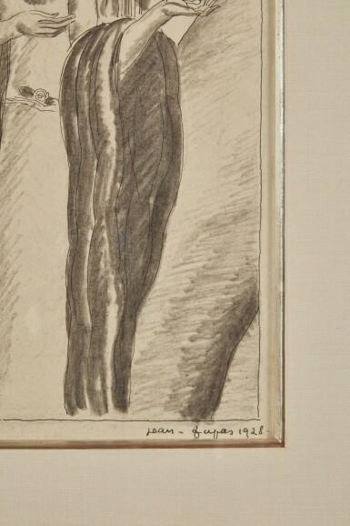 View 3. Thumbnail of Lot 68. Drawing of Three Women.