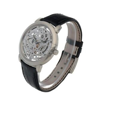 View 2. Thumbnail of Lot 540. Midnight, Ref. 450-MAS42W White gold skeletonized wristwatch Circa 2015   海瑞溫斯頓 450-MAS42W型號「Midnight」白金鏤空腕錶,年份約2015.