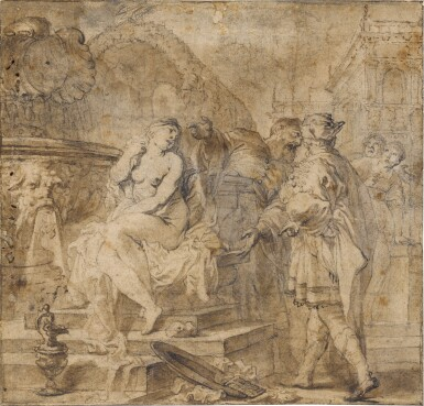 View 1. Thumbnail of Lot 92. Susanna and the Elders.