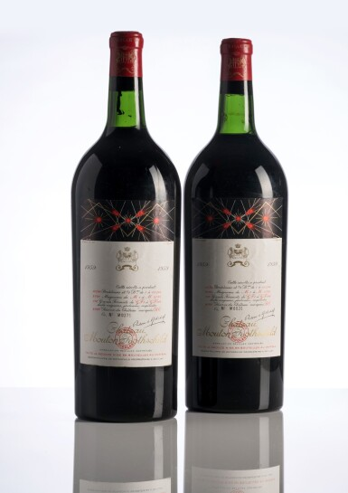 View 1. Thumbnail of Lot 3. Château Mouton Rothschild 1959 (2 MAG).