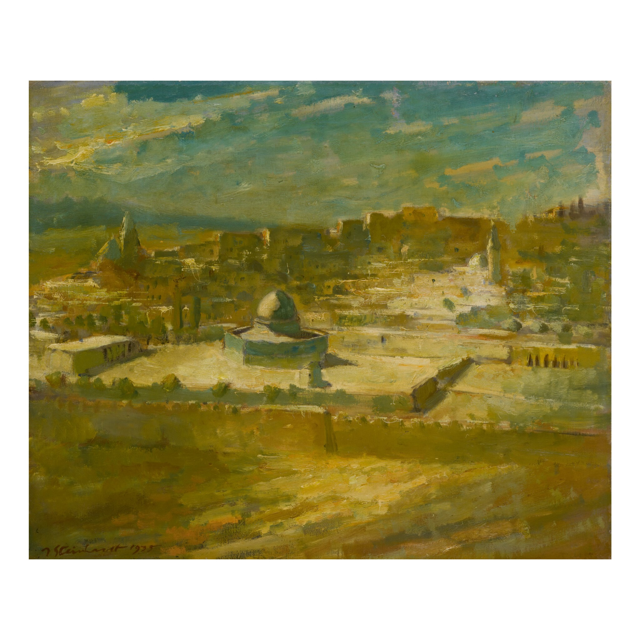 View full screen - View 1 of Lot 23. JAKOB STEINHARDT | VIEW OF JERUSALEM.