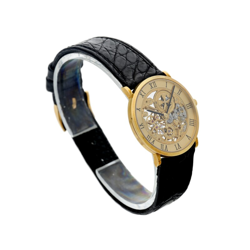Squelette. Reference 33114  A Yellow Gold Skeletonized Wristwatch, Circa 1990