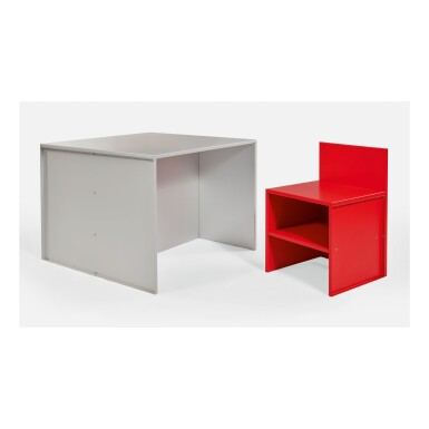 DONALD JUDD | TABLE AND CHAIR