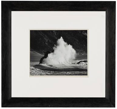 View 2. Thumbnail of Lot 102. 'Wave Near Goat Rock, N. Calif. Coast'.