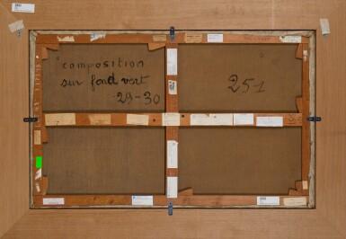 View 3. Thumbnail of Lot 160. Composition sur fond vert | 《青色背景構圖》.
