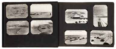 View 3. Thumbnail of Lot 210. Saudi Arabia. Album of photographs of the construction of the Trans-Arabian Pipeline, 1950s.