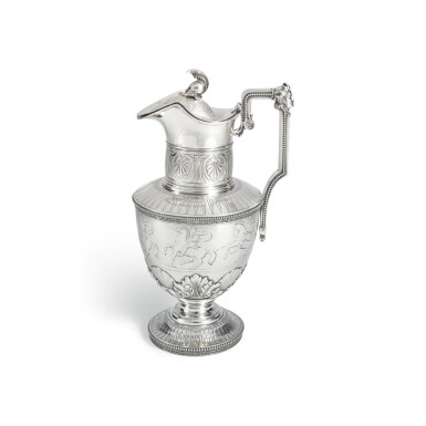 AN AMERICAN SILVER WATER PITCHER, TIFFANY & CO., NEW YORK, CIRCA 1856-59