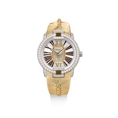 View 1. Thumbnail of Lot 8078. ROGER DUBUIS | VELVET | A LIMITED EDITION WHITE GOLD AND DIAMOND-SET WRISTWATCH, CIRCA 2018 | 羅杰杜彼 | Velvet 限量版白金鑲鑽石腕錶,約2018年製.