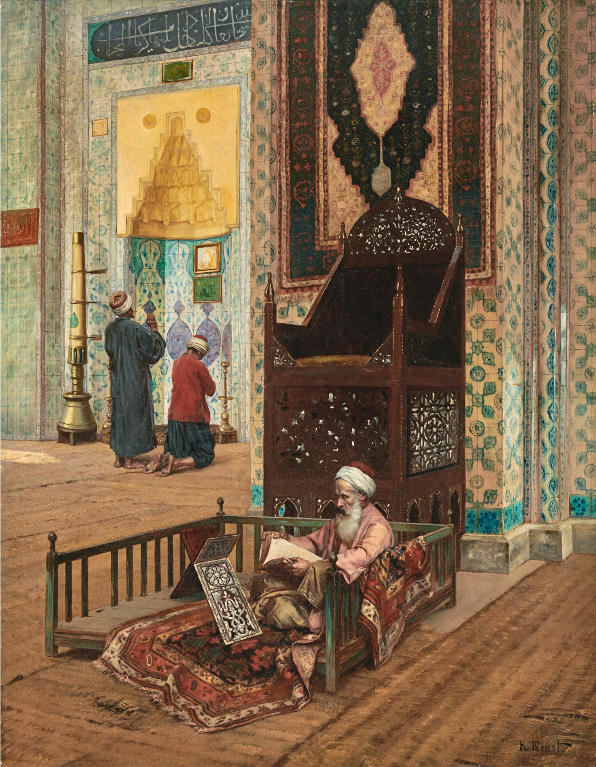 View 1 of Lot 22. RUDOLF ERNST | THE MOSQUE OF RÜSTEM PASHA, CONSTANTINOPLE.