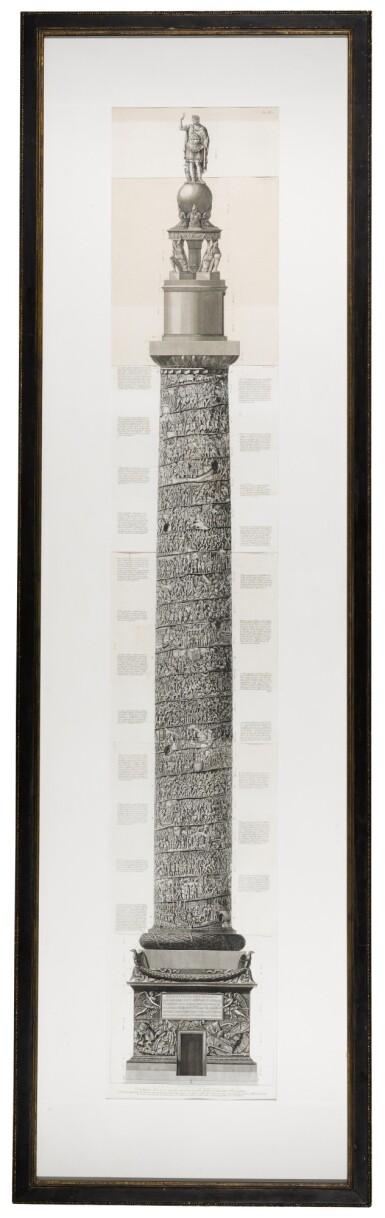View 5. Thumbnail of Lot 69. Francesco Piranesi (1756-1810), Two etchings of Roman columns, late 18th century.