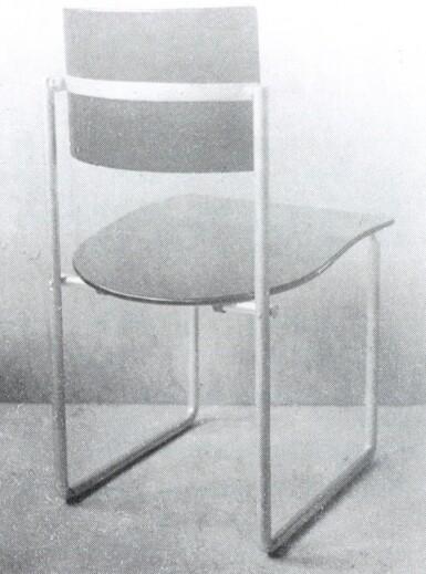 "View 5. Thumbnail of Lot 11. ""Schröder"" Upright Chair."