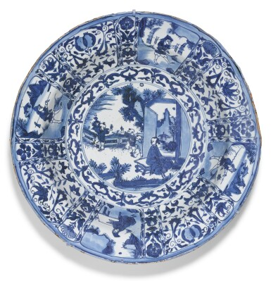 View 1. Thumbnail of Lot 10. A LARGE BLUE AND WHITE 'KRAAK' DISH MING DYNASTY, WANLI PERIOD.