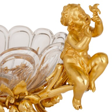 View 6. Thumbnail of Lot 75. A FRENCH GILT-BRONZE AND CUT-GLASS SIX-PIECE GARNITURE, BY CHRISTOFLE & CIE CIRCA 1880.