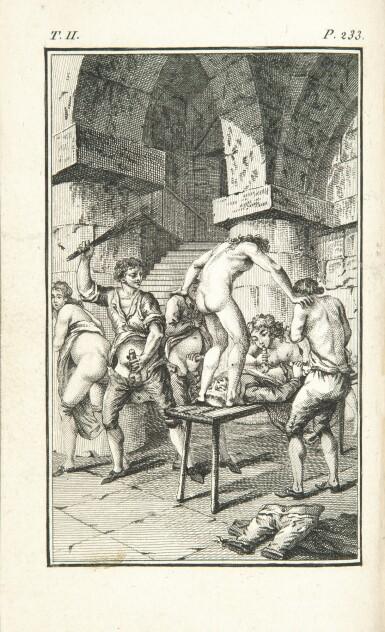 View 1. Thumbnail of Lot 167. SADE. La Nouvelle Justine. Rarissime en rel. érotique.Véritables éditions originales publiées à Paris en 1799 et en 1801.