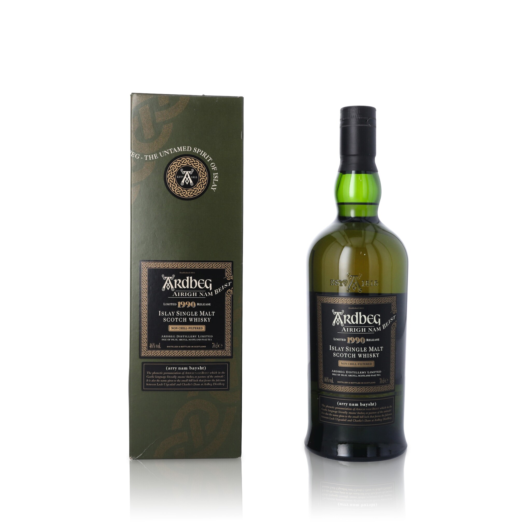View full screen - View 1 of Lot 63. Ardbeg Airigh Nam Beist 46.0 abv 1990 (1 BT70).