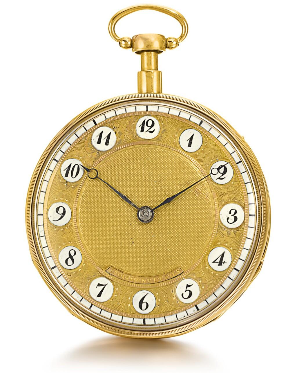 LS. DUCHÈNE ET FILS | A GOLD QUARTER REPEATING KEY WOUND MUSICAL WATCH   CIRCA 1820, NO. 94473