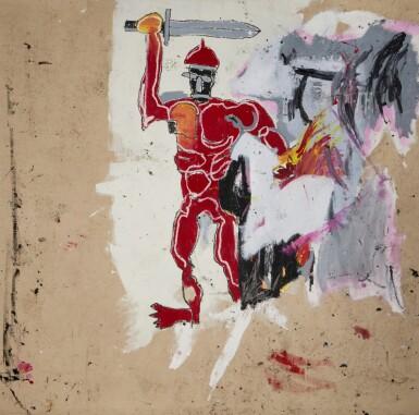 View 1. Thumbnail of Lot 1118. Jean-Michel Basquiat 尚・米榭・巴斯基亞   Untitled (Red Warrior) 無題(紅戰士)     .
