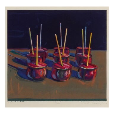 View 1. Thumbnail of Lot 22. WAYNE THIEBAUD | CANDY APPLES.