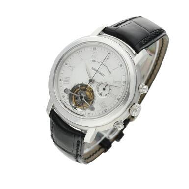 View 3. Thumbnail of Lot 368. Reference 25909BC Jules Audemars  A white gold tourbillon chronograph wristwatch, Circa 2000 .