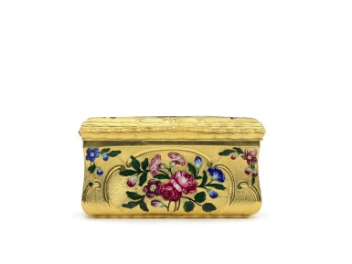 View 4. Thumbnail of Lot 13. A gold and enamel snuff box, James Bellis, London, circa 1765.