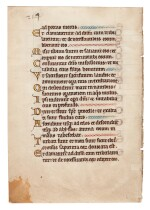 Leaf from a Psalter, illuminated manuscript in Latin on vellum, [Southern Netherlands, 13th century]