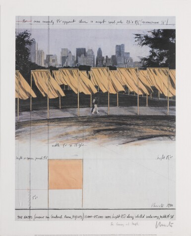 View 8. Thumbnail of Lot 34. The Gates, Project for Central Park, New York City: 5 Prints.