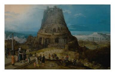 View 1. Thumbnail of Lot 104. HENDRIK VAN CLEVE III     THE BUILDING OF THE TOWER OF BABEL (GENESIS 11: 3-5).