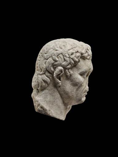 View 4. Thumbnail of Lot 75. A Monumental Marble Portrait Head of the Emperor Nerva, late 1st Century A.D..