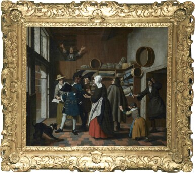 View 2. Thumbnail of Lot 235. JAN JOSEF HOREMANS THE YOUNGER | THE DEVIL AS A TAX-COLLECTOR, BEING EXPELLED FROM A STORE.
