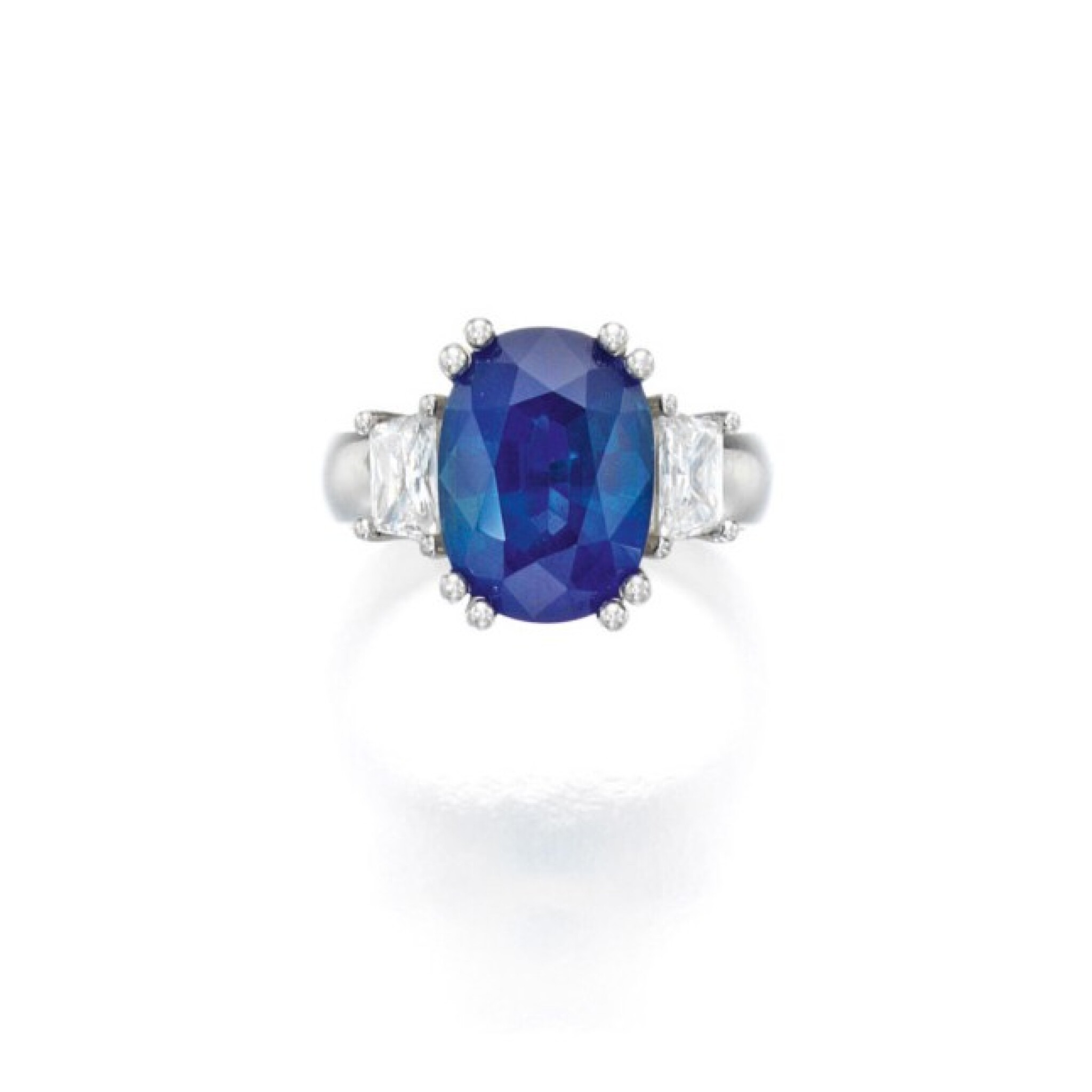 View full screen - View 1 of Lot 45. Sapphire and Diamond Ring.
