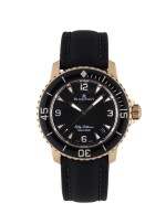 BLANCPAIN | FIFTY FATHOMS, REF 5015-3630-52 PINK GOLD WRISTWATCH WITH DATE CIRCA 2012