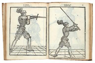 View 3. Thumbnail of Lot 219. Marozzo, Opera nova de l'arte de l'armi, [Modena, c. 1540], contemporary limp vellum.