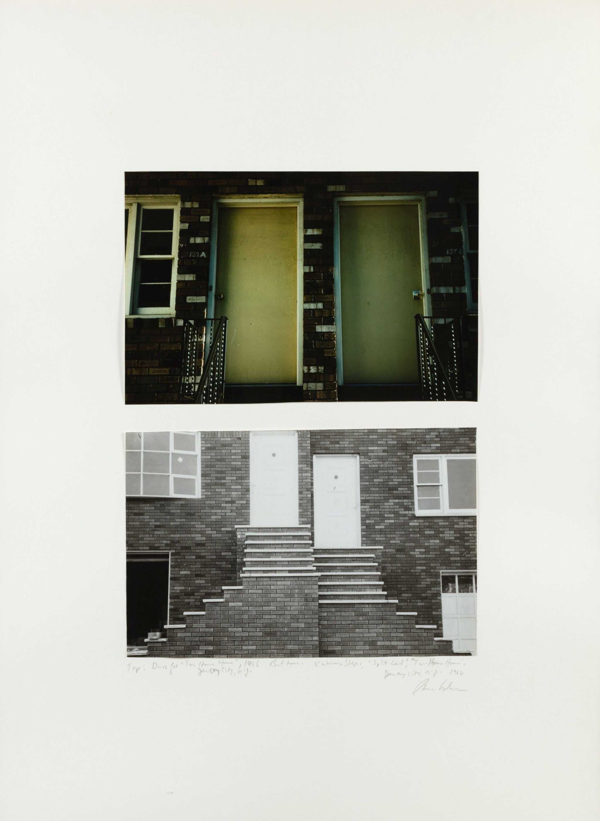 View 1 of Lot 67. DAN GRAHAM | DOORS, 'TWO HOME HOUSE', JERSEY CITY, NEW JERSEY, 1966;  ENTRANCE STEPS, SPLIT LEVEL, 'TWO HOME HOUSE', JERSEY CITY, NEW JERSEY, 1966.